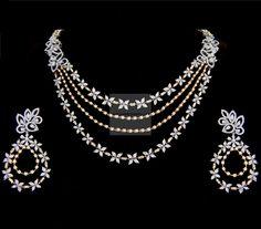 Diamond Necklaces / Chokers - Diamond Jewelry Diamond Necklaces / Chokers at USD Black Diamond Earrings, Diamond Necklace Set, Sterling Silver Earrings Studs, Diamond Jewelry, Emerald Diamond, Diamond Heart, Gold Jewelry, Sapphire, Fine Jewelry