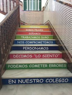 Resultado de imagen de escaleras con mensajes colegios Good Student, Teacher Tools, Classroom Management, Back To School, Stairs, Ideas Para, Education, Google, Home Decor