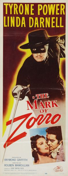 Linda Darnell and Tyrone Power in The Mark of Zorro (1940)....I love this movie!!!