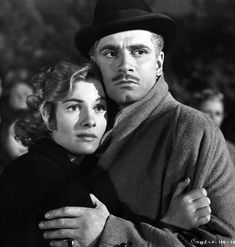 Joan Fontaine and Laurence Olivier in Rebecca.