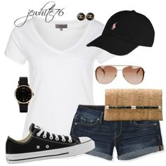 Cute summer outfit, baseball game outfit