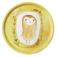 'Wise Owl' tray by Donna Wilson
