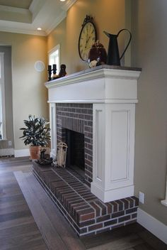 this fireplace reminds me of the house I grew up in ):