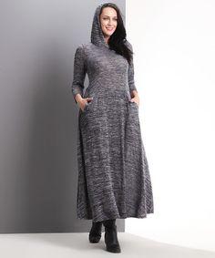 Look at this #zulilyfind! Charcoal Melange Hooded Maxi Dress - Plus #zulilyfinds