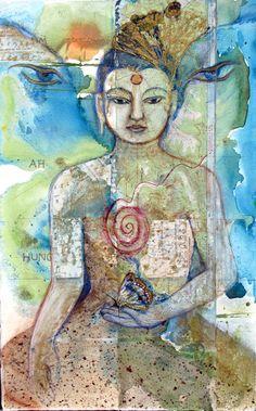 Butterfly Buddha Child  by Sharmon Davidson