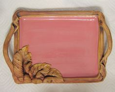 Studio Art Pottery Serving Tray Hand Built Slab Ceramic #Contemporary