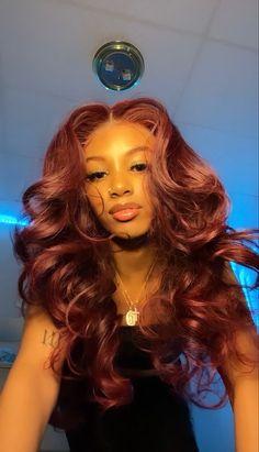 Baddie Hairstyles, Weave Hairstyles, Pretty Hairstyles, Curly Hair Styles, Natural Hair Styles, Birthday Hairstyles, Dyed Natural Hair, Hair Laid, Dye My Hair