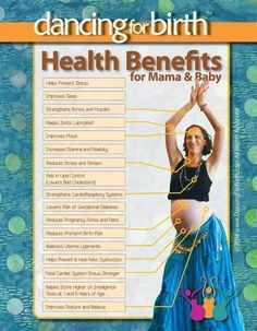 Being upright during labor and birth can increase the available space within the mother's pelvis by up to 30%. Being upright and mobile during birth results in: • Shorter Labours (by more than an hour) • 20% Fewer Epidurals • 21% Fewer Episiotomies • 23% Fewer Assisted deliveries (forceps, vacuum) • 30% Fewer Cesareans Women who use movement in labour report that it is an effective method of relieving pain.