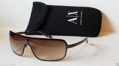 fadfb89710b Armani Exchange AX018 men sunglasses shield style brown  Fashion  Style   Deal Sunglasses 2016