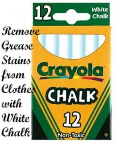 how to get grease out of clothes with chalk