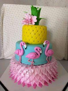 Flamingo Party, Flamingo Cake, Flamingo Birthday, Hawaiian Birthday Cakes, 60th Birthday Party, Sweet 16 Birthday, Luau Cakes, Party Cakes, Luau Theme Party