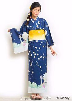 New Secret Honey Disney LE Rapunzel Dark Blue Lantern Version Yukata Kimono #SecretHoney