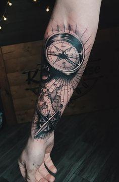 like el compas el map Tribal Arm Tattoos, Forarm Tattoos, Map Tattoos, Forearm Sleeve Tattoos, Cool Forearm Tattoos, Best Sleeve Tattoos, Tattoo Sleeve Designs, Tattoo Designs Men, Karten Tattoos