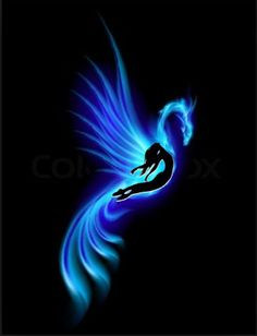 blue phoenix tattoo - Google Search
