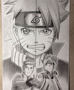 Naruto fan art @arteyata on Instagram