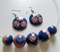 Handmade, painted jewelry, on wood. Drop Earrings, Wood, Handmade, Jewelry, Hand Made, Jewlery, Woodwind Instrument, Jewerly, Timber Wood