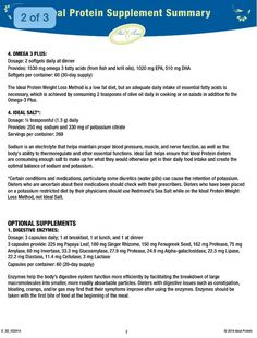 Ideal protein supplements pg 2