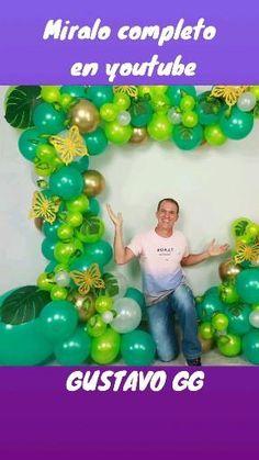 Happy Birthday B, Jungle Theme Birthday, Wild One Birthday Party, Birthday Party Themes, Birthday Balloon Decorations, Diy Party Decorations, Birthday Balloons, Balloon Decorations Without Helium, Balloon Arch Diy