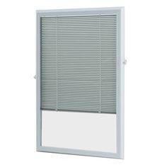 ODL White Aluminum 5/8-in Slat Light Filtering Cordless Enclosed Mini-Blinds