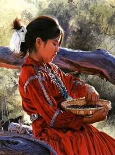 """Pinon Harvest  - """"I am a child""""  by  Ray Swanson"""