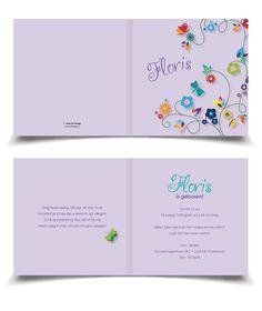 Butterfly Geboortekaartje Jongen Meisje / Jongen | Jutenjul Design