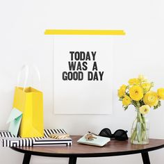 This print sets that positive outlook that makes for a better tomorrow too.