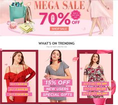 Rosegal Coupon - up to 70% OFF Rosegal Deals - Buy 3 Get 35% OFF  JUST CLICK ON https://www.rosegal.com/?lkid=13254284