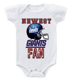 NEW Football Baby Bodysuits Creeper NFL New York Giants 9d4877cf2
