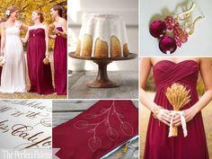 Cranberry Fall Wedding Colors