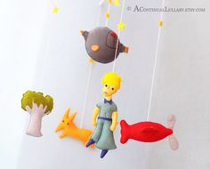 The Little Prince Baby Mobile, Little Prince Nursery, Baby Boy Nursery, Baby Boy…