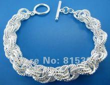 Gy-pb250 бесплатная доставка оптовая продажа посеребренные мода браслеты, Браслеты efoa mwva voea(China (Mainland))