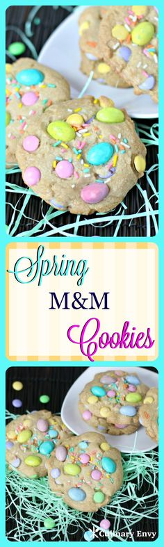 Spring M&M Cookies are the SOFTEST, most Buttery cookies you will ever try!  All thanks to this ONE special ingredient!  Who knew?