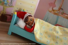 Night, Night! Elf on The Shelf Ideas – Elf Takes a Nap #elfontheshelf #elfontheshelfideas