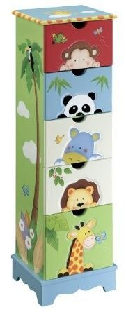 Teamson 5 Drawer cabinet - Sunny Safari Room Collection