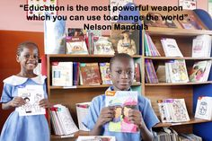 """Education is the most powerful weapon which you can use to change the world"". Famous Author Quotes, English Language Arts, Most Powerful, Nelson Mandela, Journalism, Change The World, Weapon, Favorite Quotes, Literacy"