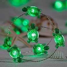 Amazon.com : Impress Life Turtle String Lights, Green Decorative LED Silver Wire 10 ft 40 LEDs with Remote for Indoor, Covered Outdoor, Beach Party Decorations, Summer Holiday, Tent Wedding, Birthday, Bedroom : Garden & Outdoor Land Turtles, Cute Turtles, Sea Turtles, Green Turtle, Turtle Love, Turtle Birthday, Tent Wedding, Tortoises, Beach Party