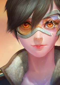Overwatch Fan art -tracer, JOO YANN ANG on ArtStation at https://www.artstation.com/artwork/139G2