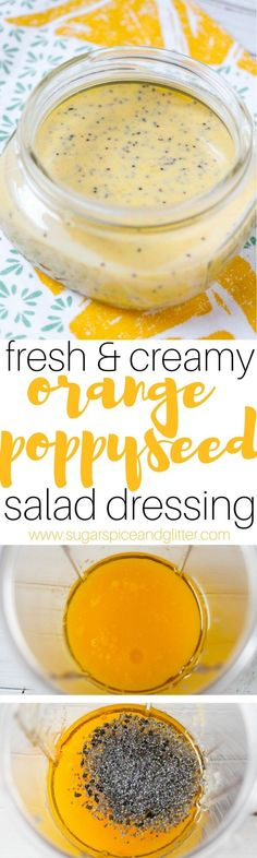 A fresh and creamy orange poppyseed salad dressing that makes eating salad for lunch taste indulgent while keeping you on track with your health goals