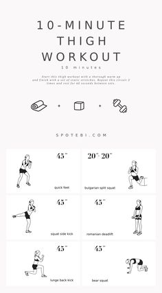 10-Minute Thigh Workout for Women