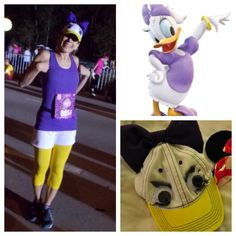 Daisy Duck running costume made by my MIL | DIY hat | WDW Disney Princess Half Marathon 2013 | runDisney