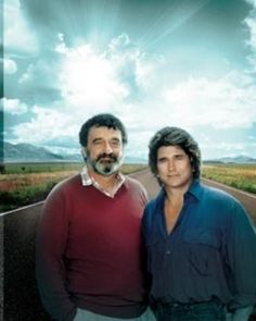 Michael Landon and Victor French.Highway to Heaven. Another heartwarming show! Victor French, Way To Heaven, Michael Landon, Family Tv, Stars Then And Now, See Movie, Old Shows, My Generation, Important People