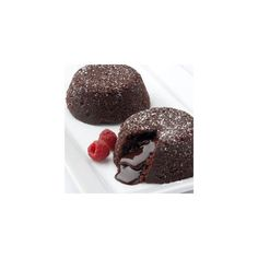 Gourmet Food Mall - Galaxy Desserts - Chocolate Lava Cakes found on Polyvore