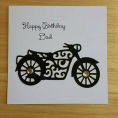 Открытку просто, открытка папе мотоцикл