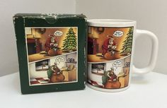 Rare, The Far Side By Gary Larson 1991 Christmas What the Hell 16 Oz Coffee Mug Cup by UrbanVintageChic on Etsy