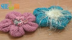 How to Knit 3D 5-Petal Flower Tutorial 19 Free Knitting Flower Patterns ❤ https://www.youtube.com/watch?v=Izsk9Z5jh8I