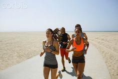 People running on beach