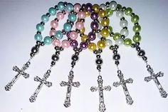 denarios clasicos de perlas para comunion y bautismo