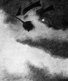 Uvaersnatt-utfor-skomvaer-fyr-en - ship in storm by lighthouse - 1892 - Theodor Kittelsen - Wikipedia Most Popular Artists, Great Artists, Black And White Sketches, Art Database, Classical Art, Nature Paintings, Impressionism, Troll, Lighthouse