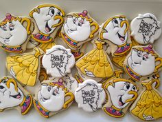 Beauty and the Beast cookies by LuxeCookie