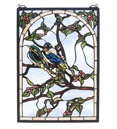 Meyda Tiffany 47966 Lovebirds Stained Glass Window